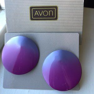 Vintage 1988 Avon PINK OMBRE CONTOURED Earrings